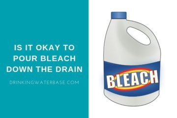 is it okay to pour bleach down the drain